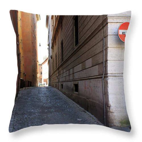Empty Throw Pillow featuring the photograph Empty Street by Munir Alawi