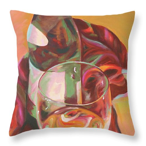 Still Life Throw Pillow featuring the painting Enchant by Trina Teele