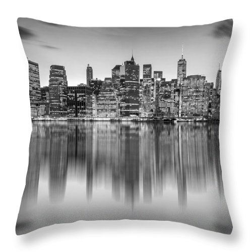 One World Trade Center Throw Pillow featuring the photograph Enchanted City by Az Jackson