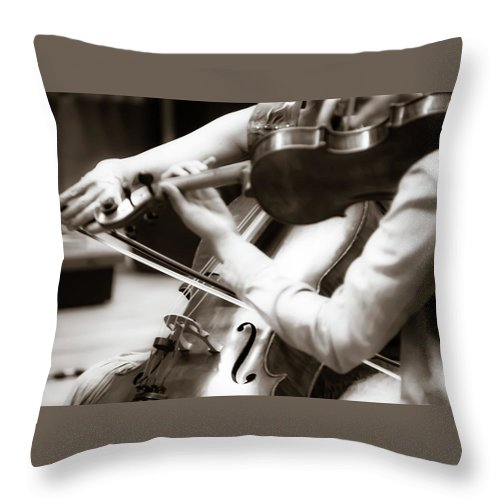 Enchanted Throw Pillow featuring the photograph Enchanted - by Julie Weber
