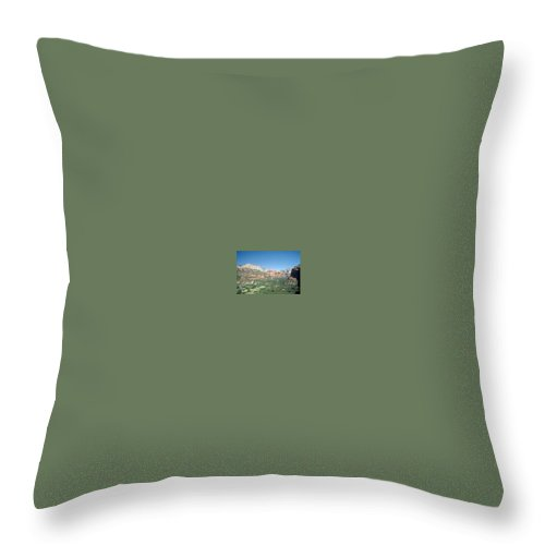 Sedona Throw Pillow featuring the photograph Enchantment Resort Sedona Arizona by Gary Wonning