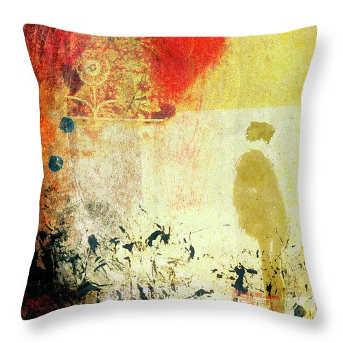 Encircled In Sunlight Throw Pillow featuring the mixed media Encircled In Sunlight by Carol Leigh