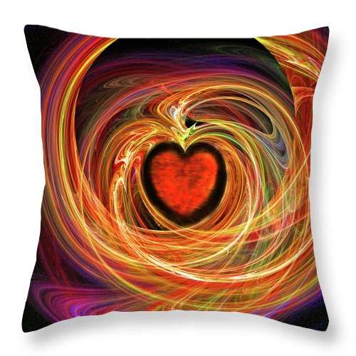 Digital Throw Pillow featuring the digital art Encompassing Love by Michael Durst