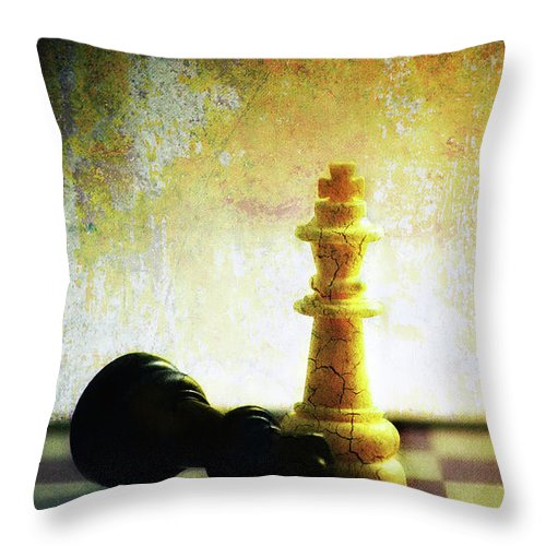 Art Throw Pillow featuring the photograph End Game by Dragos Dumitrascu