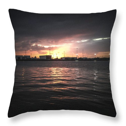 Photography Throw Pillow featuring the photograph End Of Day by Gaddeline Figueroa