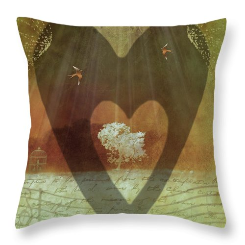Surrealism Throw Pillow featuring the digital art Endless Love by Holly Kempe