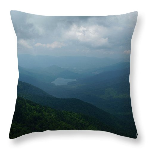 Mountain Mitchell State Park Throw Pillow featuring the photograph Endless Parkway by Christal Randolph