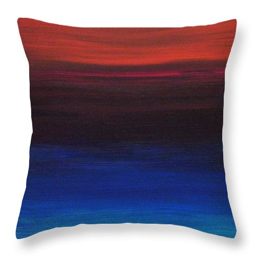 Original Throw Pillow featuring the painting Endless by Todd Hoover