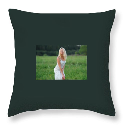 Endovex Throw Pillow featuring the digital art Endovex by Justina Englands