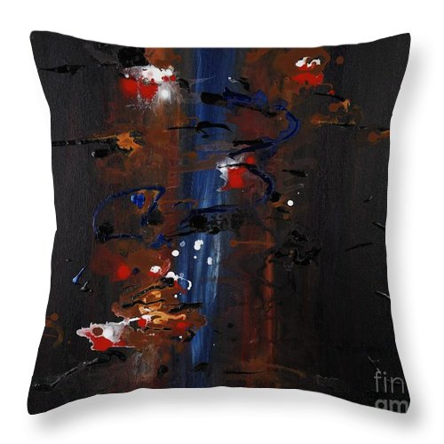 Black Throw Pillow featuring the painting Energy by Nadine Rippelmeyer