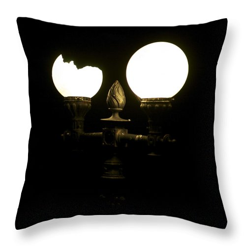 Lamps Throw Pillow featuring the photograph Energy Saver by Christopher Rowlands