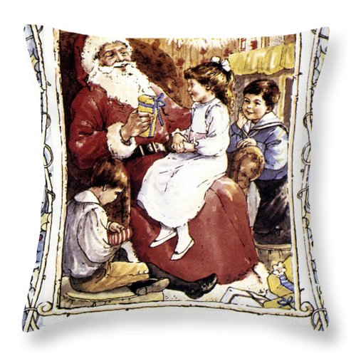 19th Century Throw Pillow featuring the photograph English Christmas Card by Granger