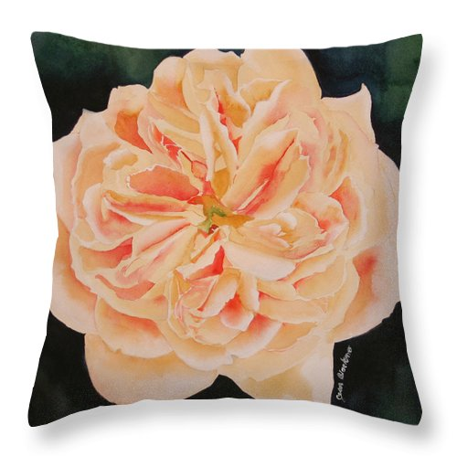 Rose Throw Pillow featuring the painting English Rose by Jean Blackmer