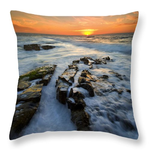 Sunset Throw Pillow featuring the photograph Engulfed by Mike Dawson