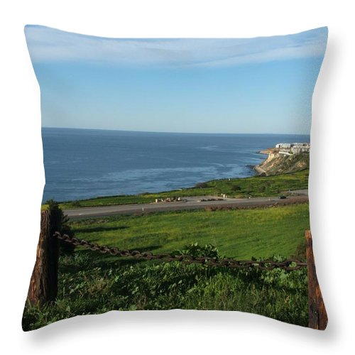 Ocean Throw Pillow featuring the photograph Enjoying The View by Shari Chavira