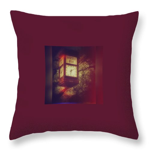 Enlight Throw Pillow featuring the photograph Vintage Clock by Joan McCool