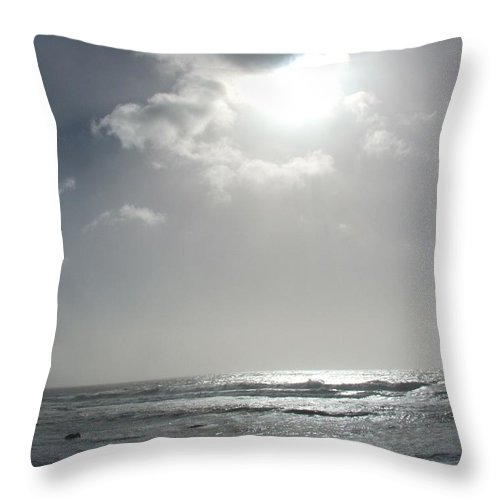 Black And White Throw Pillow featuring the photograph Enlightened by Shari Chavira