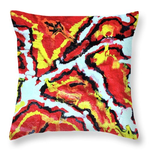 Acrylic Throw Pillow featuring the painting Enlightenment Of The Subconscious Mind by Moises Brador