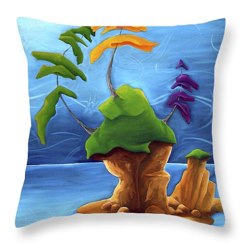 Landscape Throw Pillow featuring the painting Enraptured by Richard Hoedl