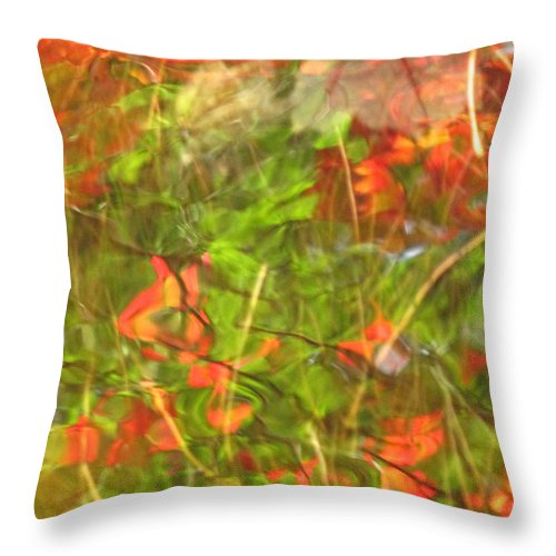 Abstract Throw Pillow featuring the photograph Entangled Adrift by Sybil Staples