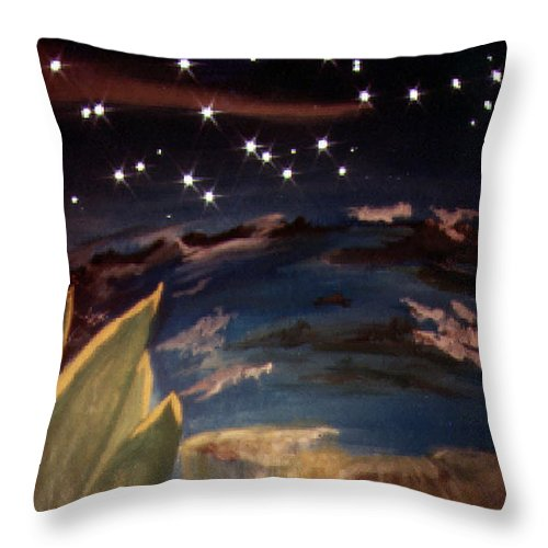 Surreal Throw Pillow featuring the painting Enter My Dream by Steve Karol