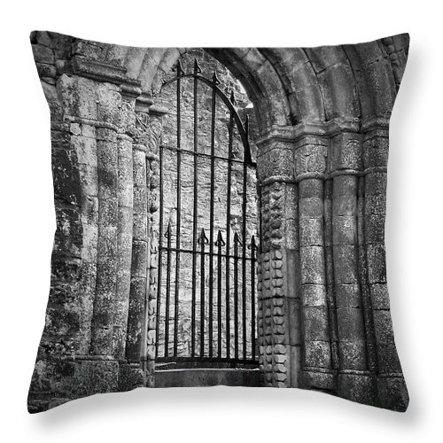 Irish Throw Pillow featuring the photograph Entrance To Cong Abbey Cong Ireland by Teresa Mucha