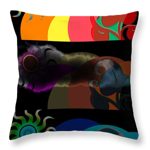 Throw Pillow featuring the digital art Environment by Clayton Bruster