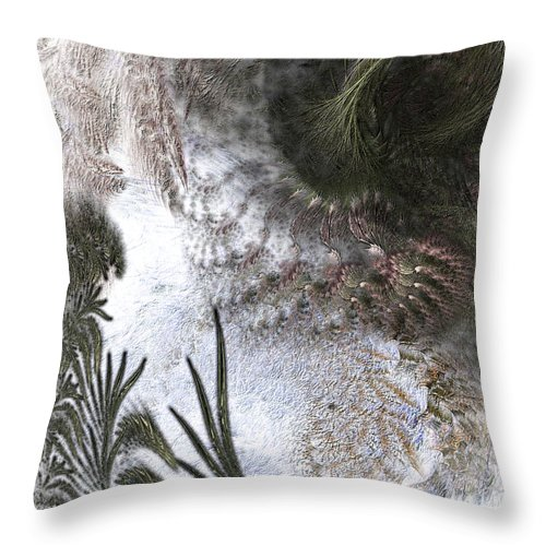Abstract Throw Pillow featuring the digital art Environmental Transitions by Casey Kotas