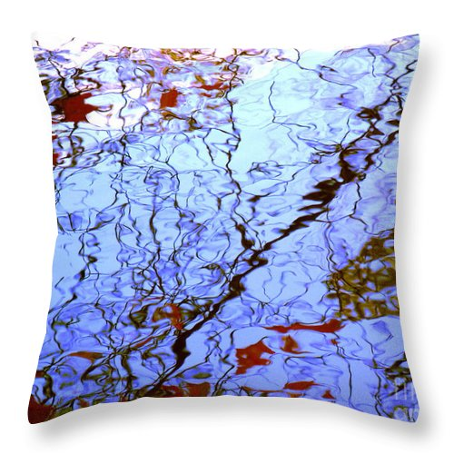 Water Art Throw Pillow featuring the photograph Envisioned Flow by Sybil Staples