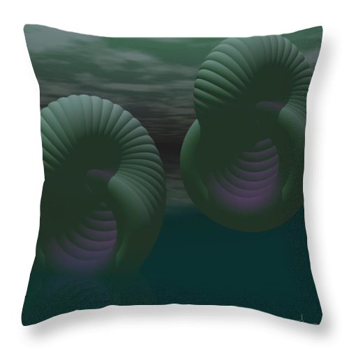 Envy Throw Pillow featuring the digital art Envy by Gina Lee Manley
