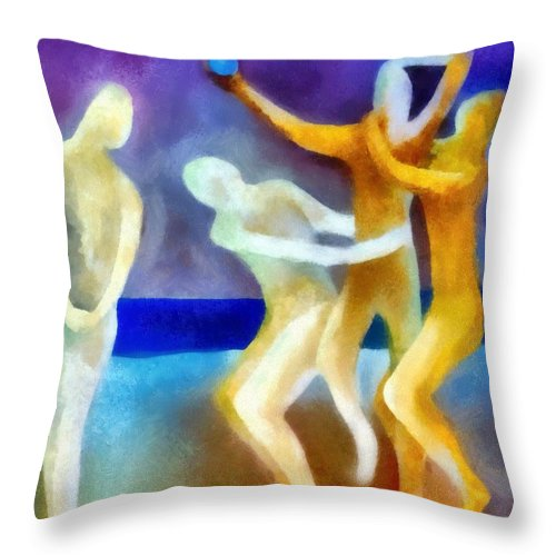 Envy Throw Pillow featuring the painting Envy by Michelle Calkins
