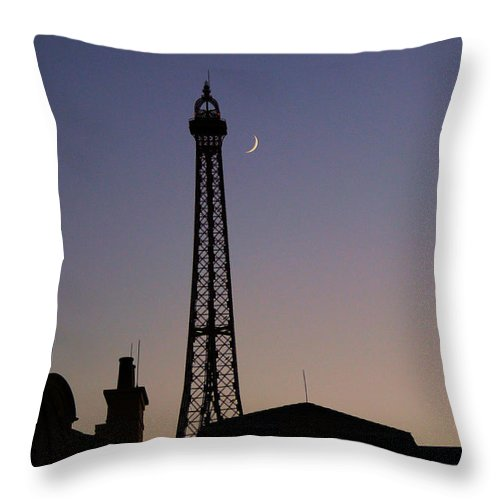 France Throw Pillow featuring the photograph Epcot France Night by Nora Martinez