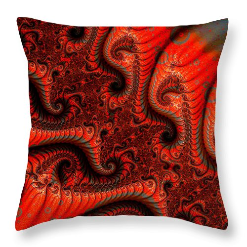 Clay Throw Pillow featuring the digital art Epidermal Emancipation by Clayton Bruster