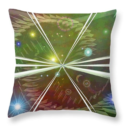Epiphany Throw Pillow featuring the digital art Epiphany by Tim Allen