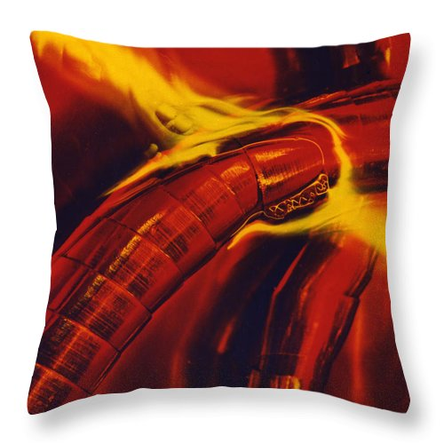 Abstract Throw Pillow featuring the photograph Eritico by David Rivas