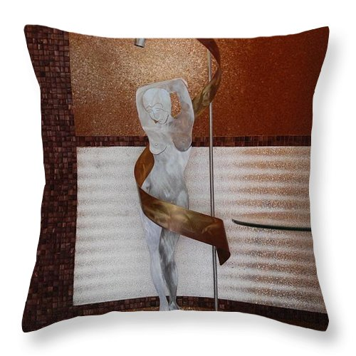 Statue Throw Pillow featuring the photograph Erotic Museum Piece by Rob Hans