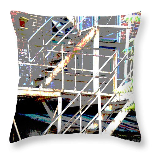 Stairs Throw Pillow featuring the photograph Escape 1 by Gary Everson