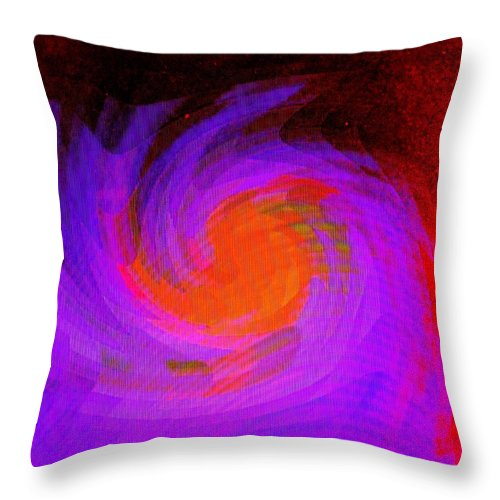 Abstract Throw Pillow featuring the digital art Escape by Ian MacDonald