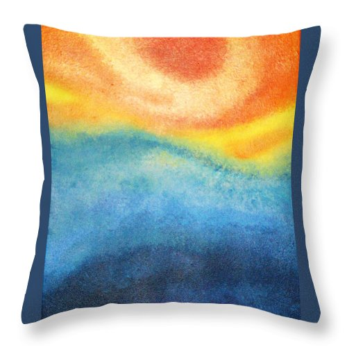 Escape Throw Pillow featuring the painting Escape by Todd Hoover