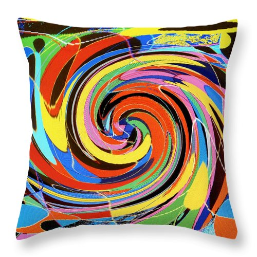 Throw Pillow featuring the digital art Escaping The Vortex by Ian MacDonald