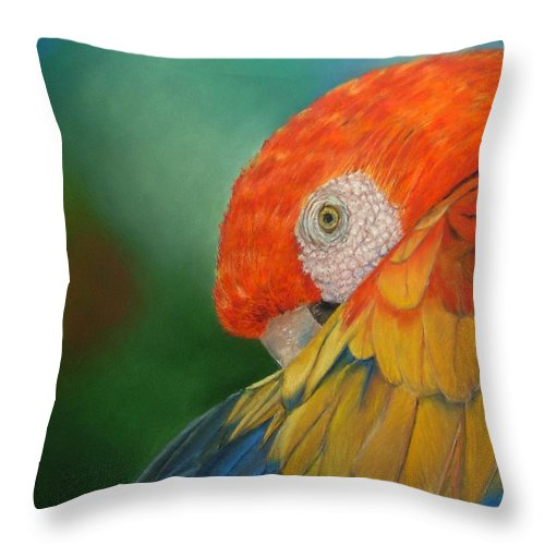 Bird Throw Pillow featuring the painting Escondida by Ceci Watson