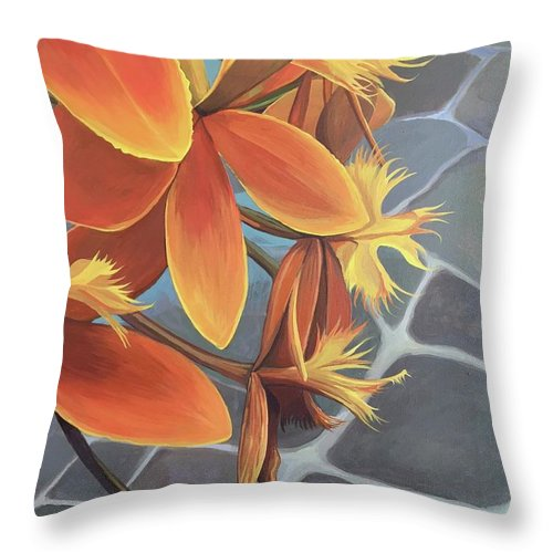 Peru Throw Pillow featuring the painting Esperanca by Hunter Jay