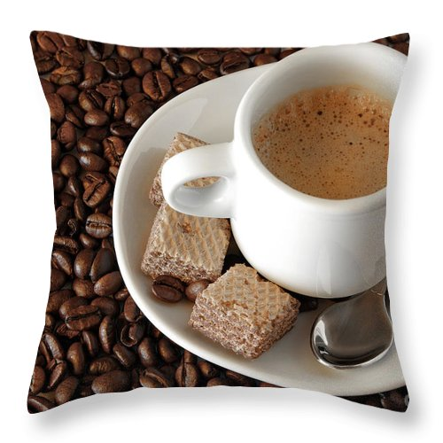 Addiction Throw Pillow featuring the photograph Espresso Coffee by Carlos Caetano