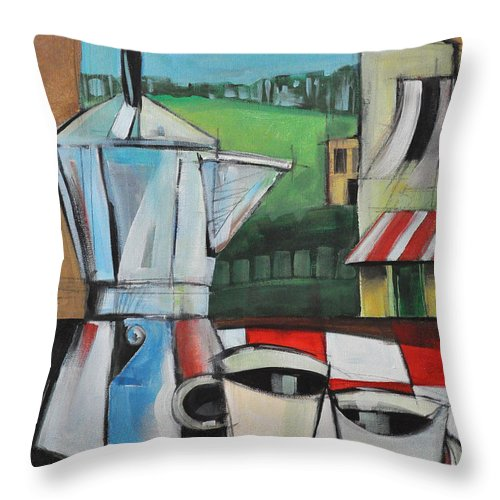 Espresso Throw Pillow featuring the painting Espresso My Love by Tim Nyberg