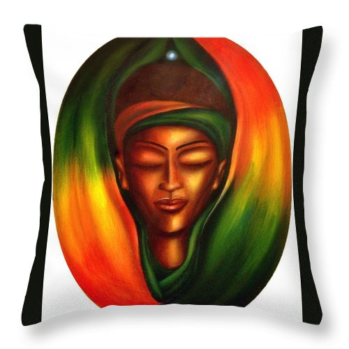 Beauty Throw Pillow featuring the painting Essence by Lee Grissett