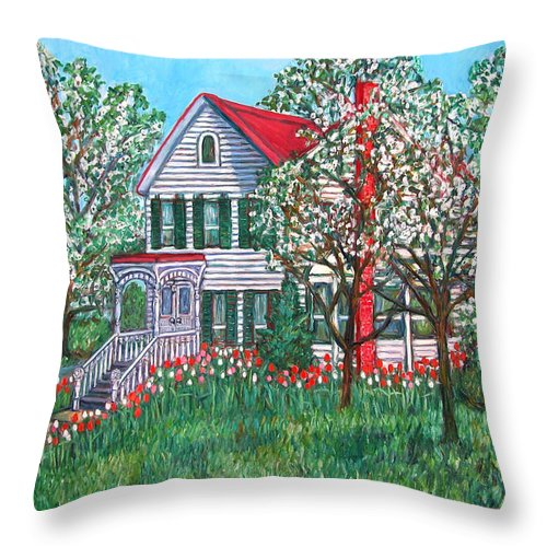 Home Throw Pillow featuring the painting Esther's Home by Kendall Kessler