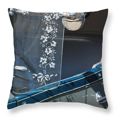 Throw Pillow featuring the photograph Etched Visor by Heather Kirk