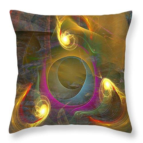 Eternal Triangle Throw Pillow featuring the digital art Eternal Triangle by John Beck