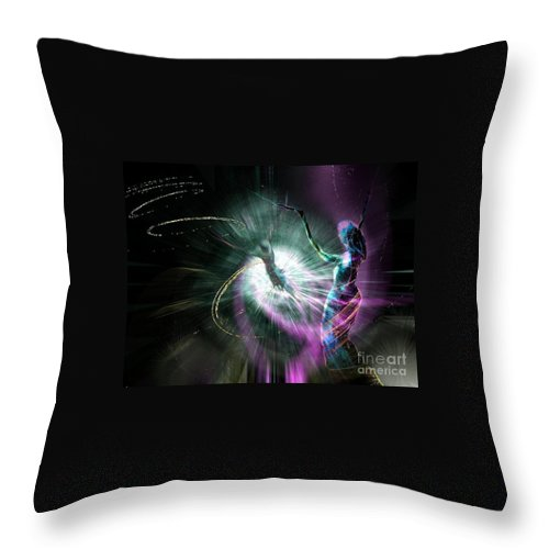 Nature Painting Throw Pillow featuring the painting Eternel Feminin 02 by Miki De Goodaboom
