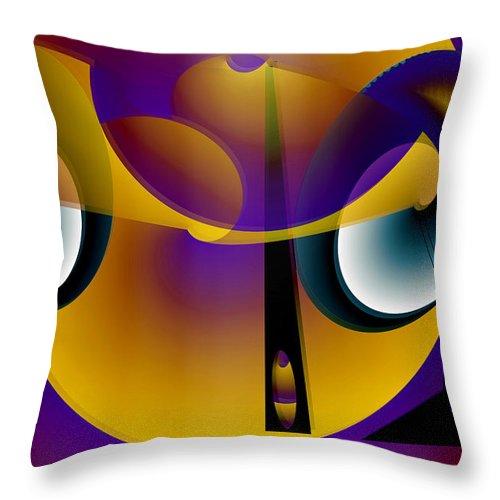 Eternity Throw Pillow featuring the digital art Eternity Clock by Helmut Rottler